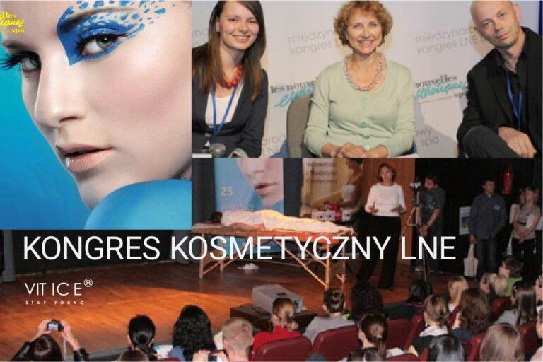 Ludmiła Petrenko prezentuje na kongresie LNE lodowy masaż antycellulitowy