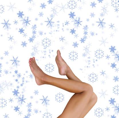 piękne nogi - masaż lodem